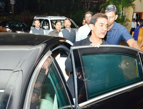 Aamir khan with his mercedes benz s600
