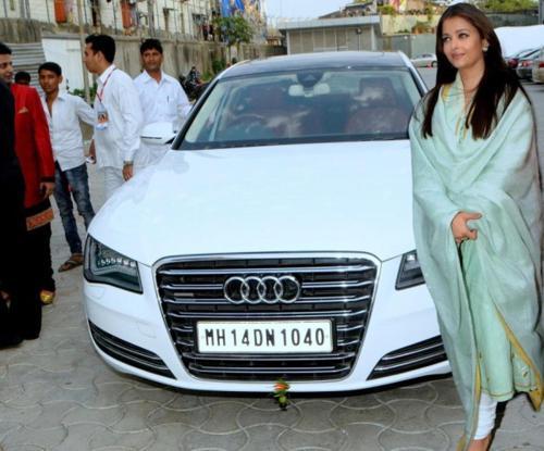 Aishwarya rai bachchan with her audi