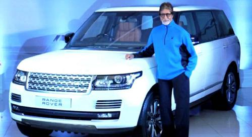 Amitabh bachchans 17th car - new range rover