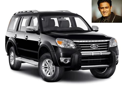 Anil kumble with the ford endeavour