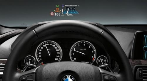 Bmw 3 series with head up display