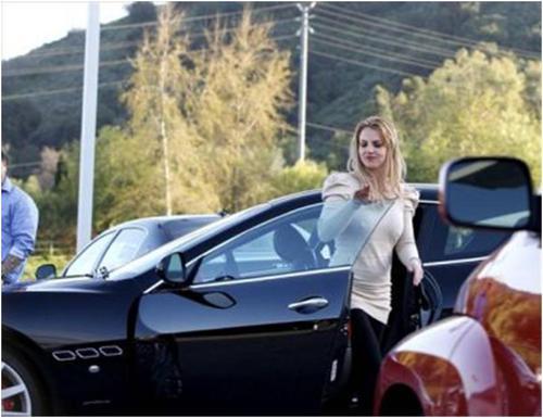 Britney spears maserati gran turismo