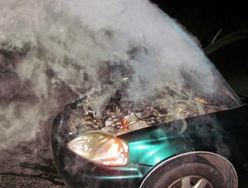 Car engine overheats