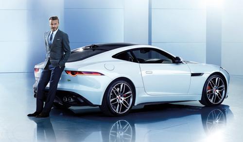 David beckham and his car