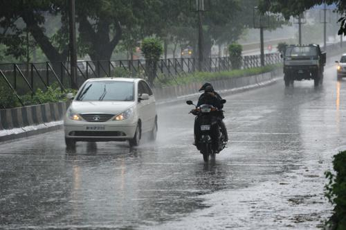 Driving during monsoon