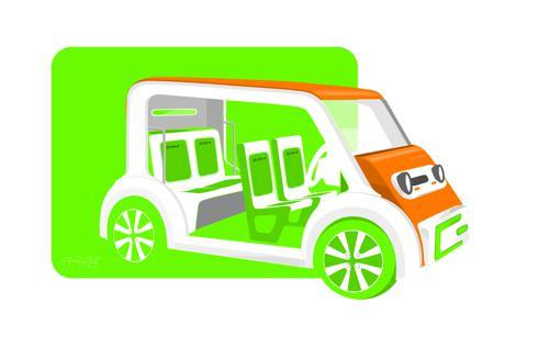 Hydrogen fuelled vehicle tuk tuk