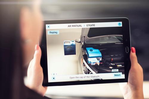 hyundai sonata uses augmented reality for maintenance