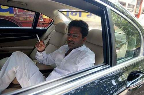 Lalit modi in his car