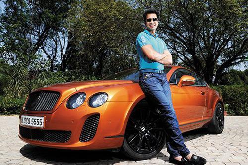 Micromax owner rahul sharma with his car