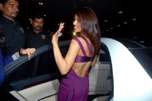 Priyanka chopra with her car