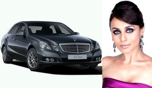 Rani Mukerji owns a Mercedes Benz E-Class