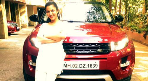 Shruti Hassans Range Rover Evoque