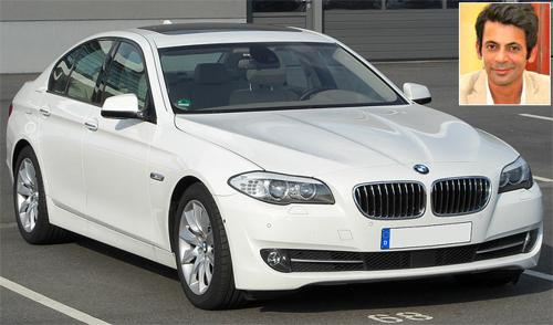 Sunil grover with bmw 5 series