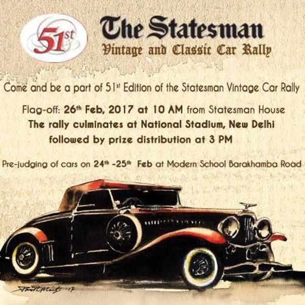 The Statesman Vintage Car Rally organised in Delhi on Feb 26
