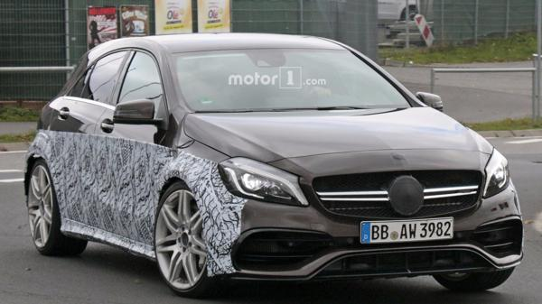 More powerful Mercedes-AMG A45 caught testing