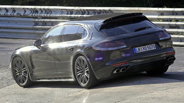 Porsches Panamera wagon rear section