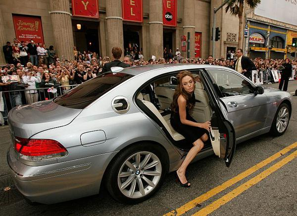 Angelina Jolie drives BMW