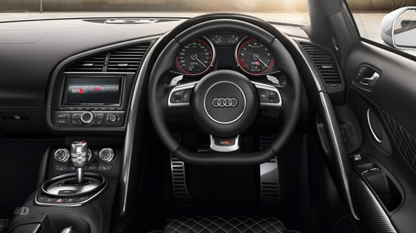Audi R8s tech heavy car dashboard