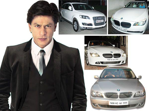 Shahrukh Khan and his fleet of luxury cars