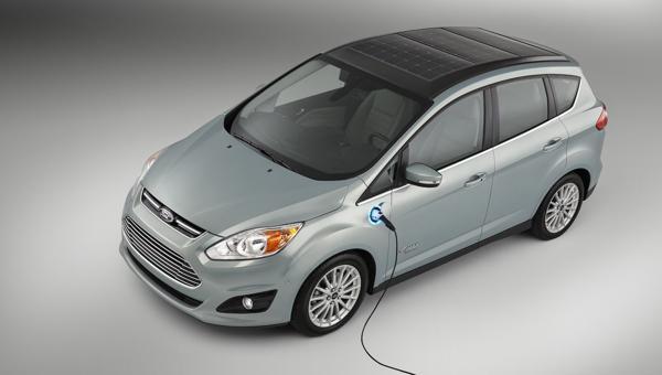 Solar hybrid concept car by Ford