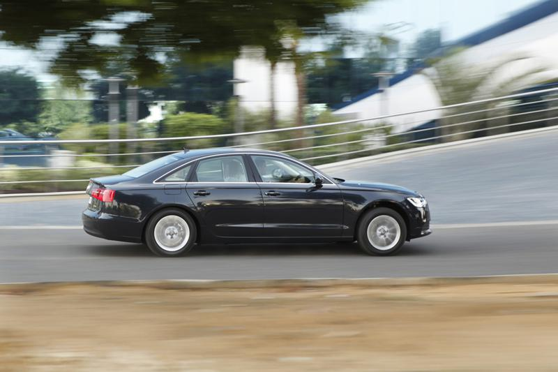 Audi A6in motion