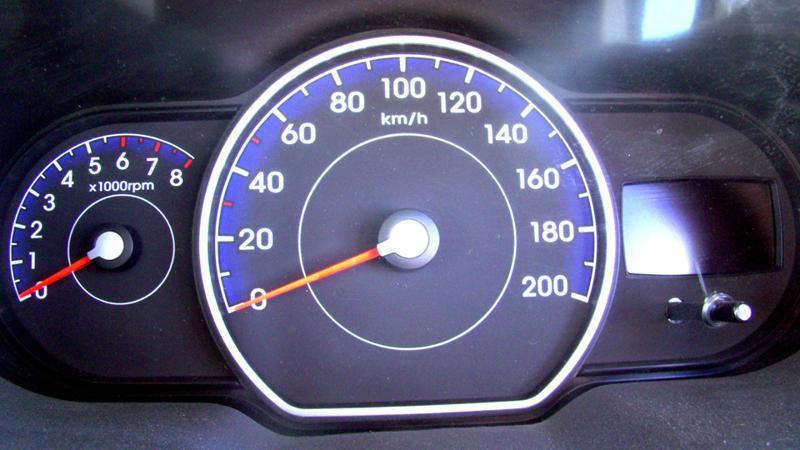 Hyundai i10 instrumental clustre