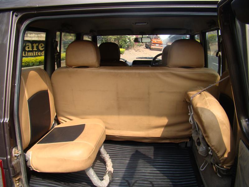 Mahindra Bolero third row passenger area