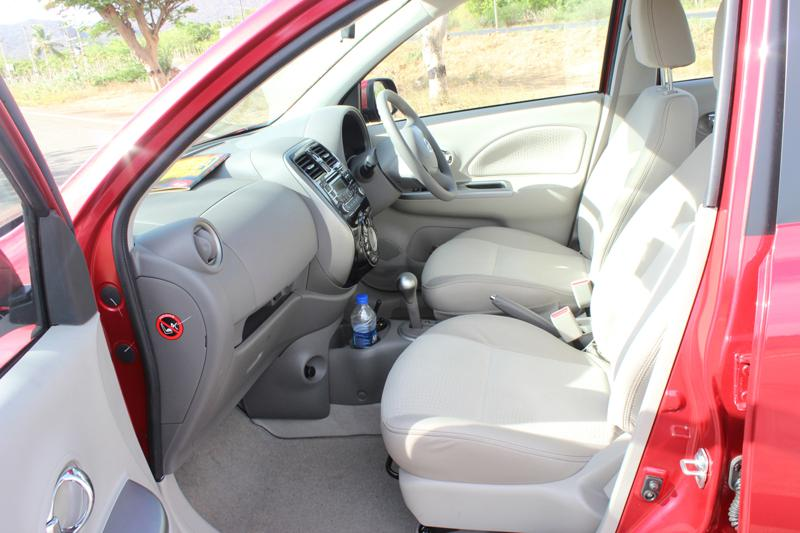 Nissan Micra front legroom photo