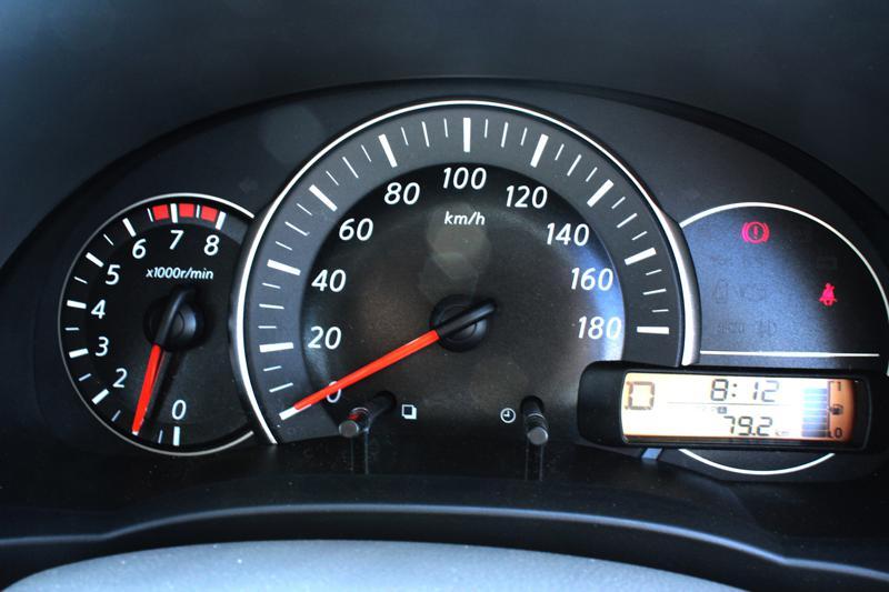 Nissan Micra instrumental panel