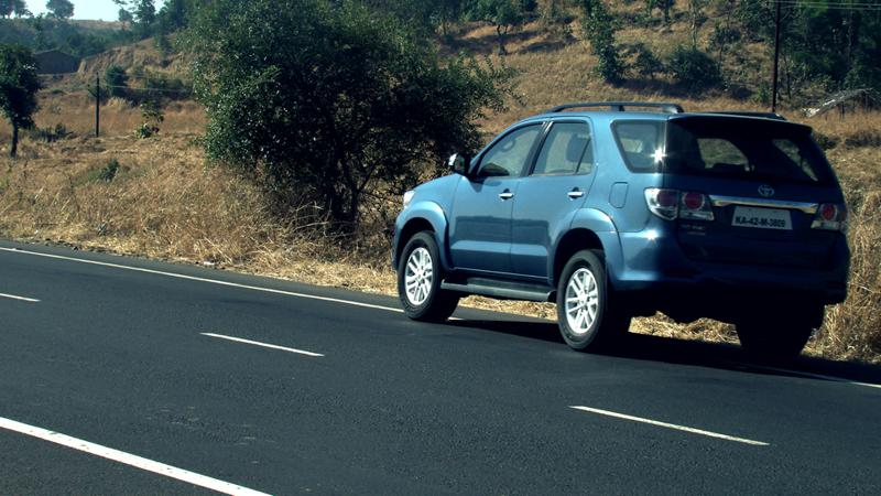Toyota Fortuner on road