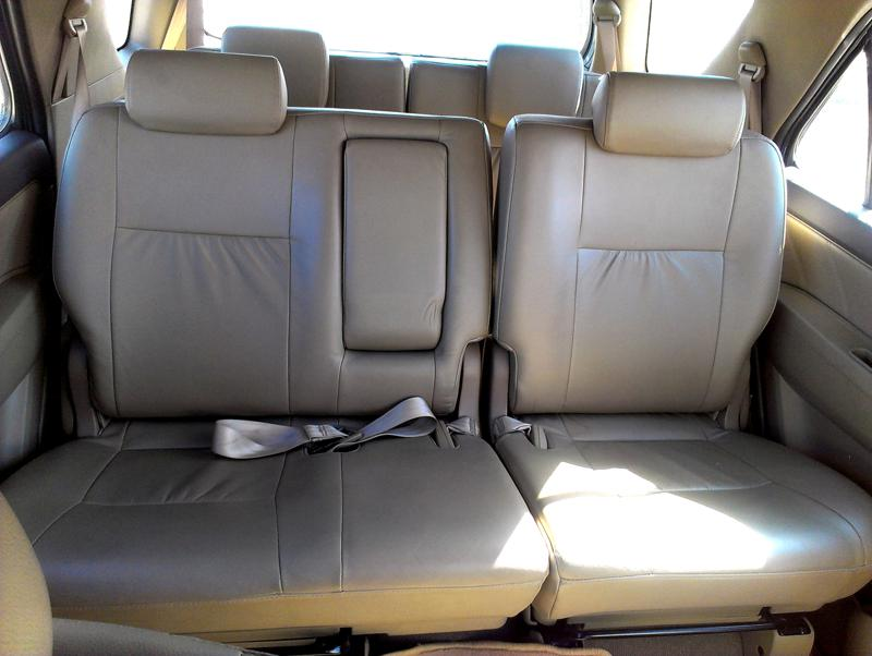 Toyota Fortuner second row seat picture