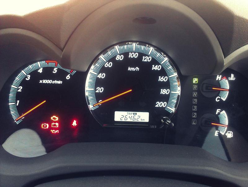 Toyota Fortuner speedometer image
