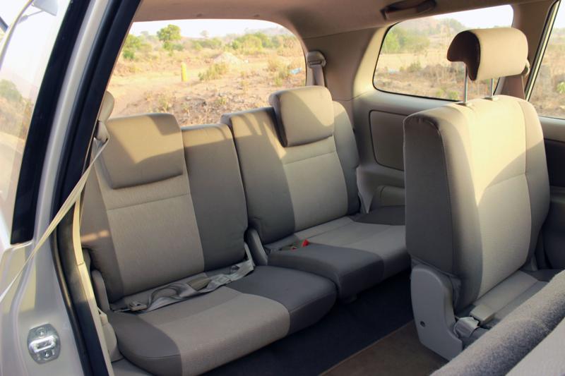 Toyota Innova Last seat space