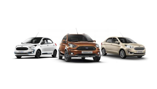 BS6 Ford Aspire Figo and Freestyle launched