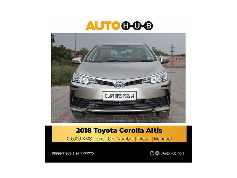 Used 2018 Toyota Corolla Altis Car In Faridabad